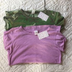 NWT 2 Free People Clare Tees size XS